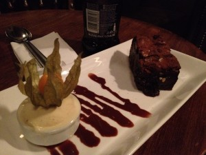 Local brews and an amazing warm brownie courtesy of the Star Inn!