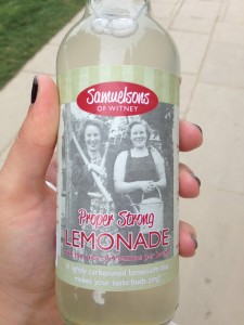 Also at The Oxfordshire Pantry at Blenheim Palace is Samulesons of Witney Lemonade made from Blenheim Palace Sparkling Water, yummy!