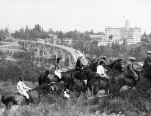 Riders in the Arroyo Seco, Pasadena, CA circa 1936. photo credit: Pasadena Water&Power