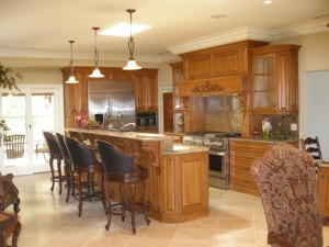 Kitchens can be designed by Diane Barber Designs to include spacious rooms for guests, extra space for treats and supplements as well as flooring to cater to the lifestyle of dirt, dogs and craziness.