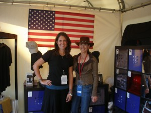 Kat (left) and Diane at the World Equestrian Games in 2010.