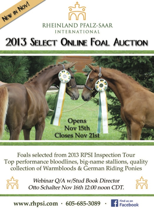 Auction opens Nov. 15 and ends Nov. 21.