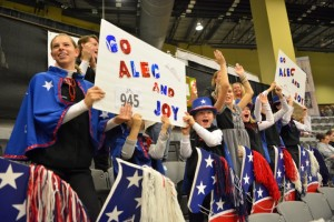 Young equestrian groups showed spirit in the stands and dressed in costume for the first Barn Night in the Bluegrass at the Alltech National Horse Show, presented by Group C.