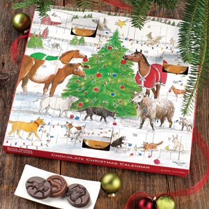 Open one of the 25 doors on each of the 24 days before Christmas. Behind each door is a gold foiled Dark Horse Chocolates treasure. On the 25th day, Christmas morning, you will find the pony you have always wished for.