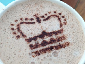 Cocoa sifted over a stencil leaves a beautifully impressive (but easy) imprint. This is Queen Elizabeth's!