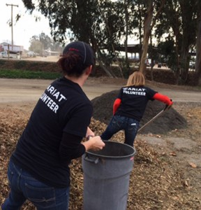 Ariat volunteers hard at work at Giant Steps Therapeutic Equestrian Center in Petaluma.