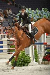 Victoria Jolie V and Kristyn Duarte won the Adult Jumper Championship at the 2013 WIHS