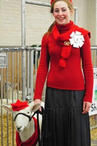 21-Alyssa Deneau, Coldwater, ON, and her ewe Karma, contestants in the Ladies Lead to Wool class
