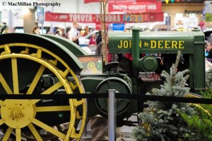 28-Several antique tractors and trucks were on display in the Royal shopping area.