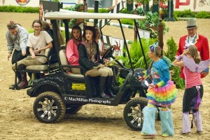 3)The group with the most members won a golf cart for their barn