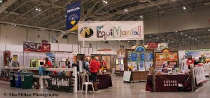 """33-The University of Guelph """"EquiMania"""" area offered many fun and educational activities about horses for kids and their parents."""