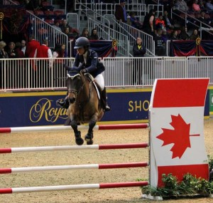 Cheptel Gaston and his owner/rider by Vanessa Fenwick, Pefferlaw, Ontario, were competitors in the opening round of the $8,000 Canadian National Talent Squad. Photo by Shelley Higgins/MacMillan Photography