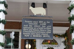 23-The sign hanging on the historic Golden Lamb Inn on Broadway Street in Lebanon. The inn has a tavern, a gift shop, four public and four private dining rooms offering a gourmet menu and four flours with forty total guest rooms.