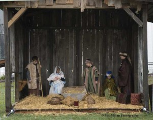24-In keeping with the holiday season the Lebanon Presbyterian Church youth group presented a living nativity on the corner of Warren and East streets.