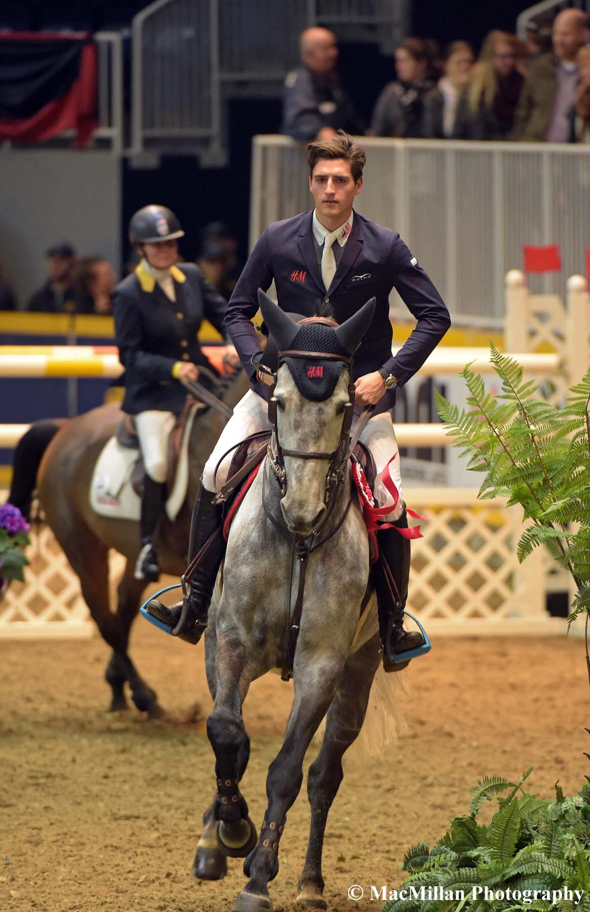Photo 5 - Belgian rider Nicola Philippaerts won the Canadian Weston Open Jumper class with the lovely grey gelding H&M Harley VD Bisschop on the final Friday of the 2015 Royal Horse Show. Nicola's twin brother Olivier also competed in the jumper classes at the Royal.Photo by Sarah Miller/MacMillan Photography
