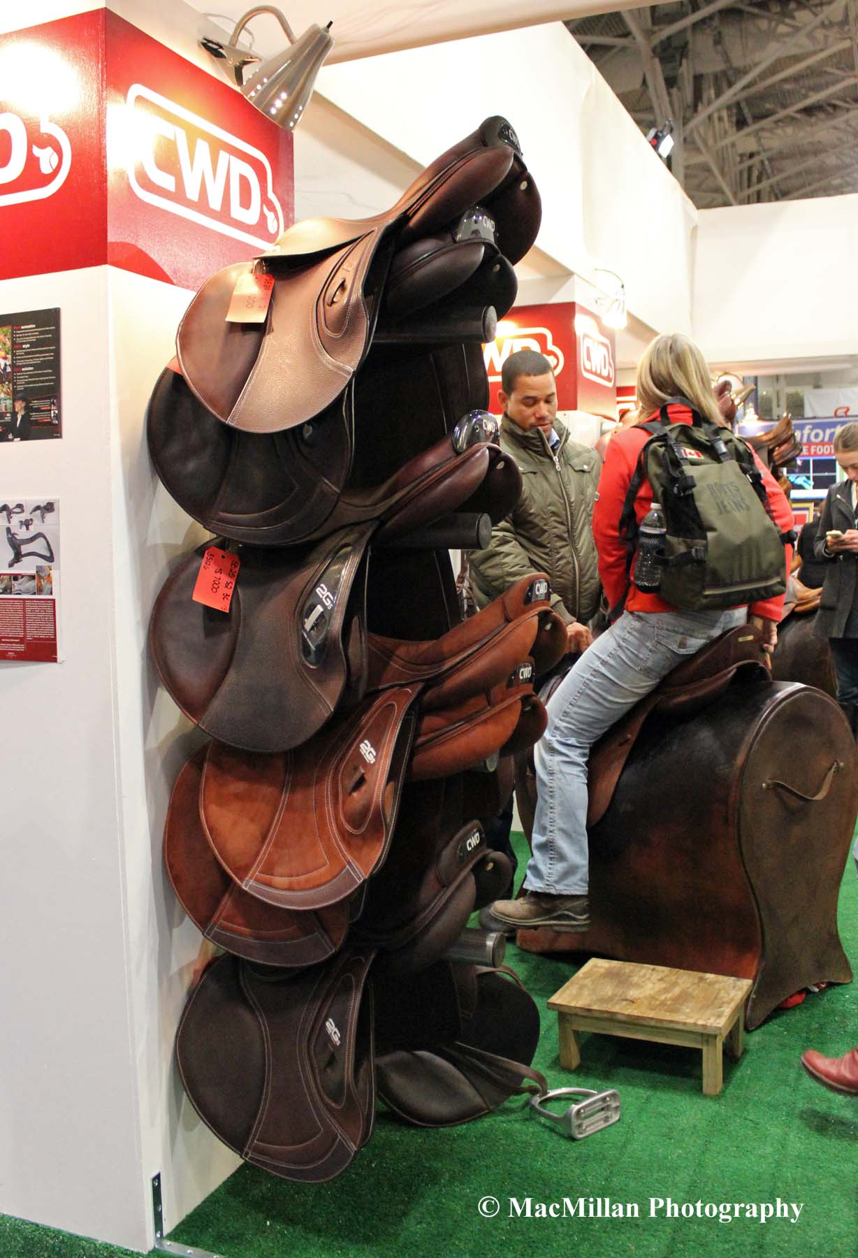 Photo 57 – CWD saddles are also for sale in the Royal trade fair. Photo by Shelley Higgins/MacMillan Photography