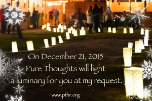 Holiday Luminary Announcement