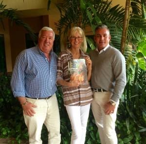 Bob Bell, Samantha Charles and Bradley Spragg