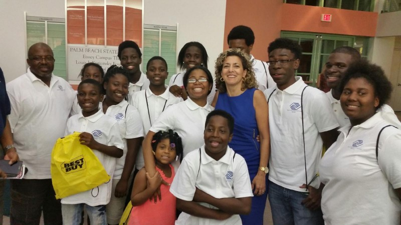 Dr. Jean Wihbey with Club Members