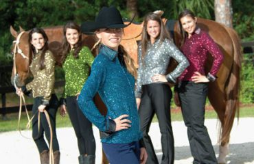 Olivia Burns, who has been a Sidelines cover girl at least twice is now gracing the pages of the State Line catalog. We heard Cindy Screnci, who makes the clothing for Charles Owen wanted Olivia to model the jackets, but when she got to the photos shoot Olivia was skinny enough to fit into the western wear so they used her for that!