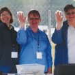The bit check volunteers on dressage day at Red Hills were Rhoda Icerman, Dianna Thompson and Betty Lou Calloway  Photo by Kim MacMillan/MacMillan Photography