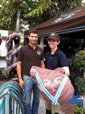 One of Jack's biggest surprises of the weekend – a new saddle from Brice Goguet, owner of Voltaire Design.