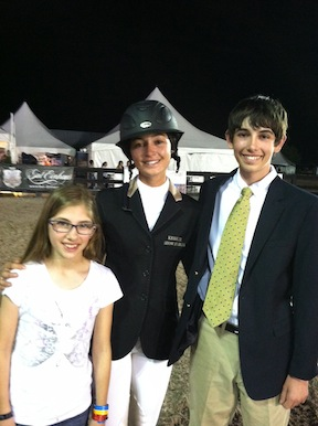 Jack and his sister Claire with Olympic show jumper Reed Kessler.