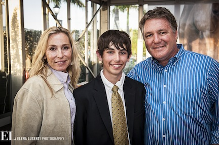 Jack had the opportunity to meet and thank Mark Bellissimo, and his wife Katherine, who helped make his dream weekend a reality. Photo by Elena Lusenti Photograhy