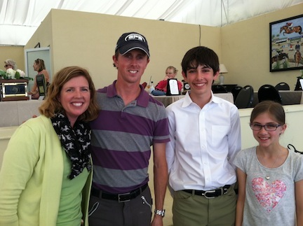 It was a gold medal moment when the Lube family met 2012 London Gold Medal Olympian Ben Maher of Great Britain.