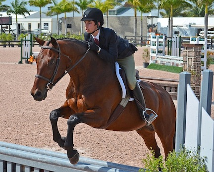 Jack competed DaVinci, owned by Sean and Christina Jones of the Palm Beach Riding Academy. Photo by Christina Jones