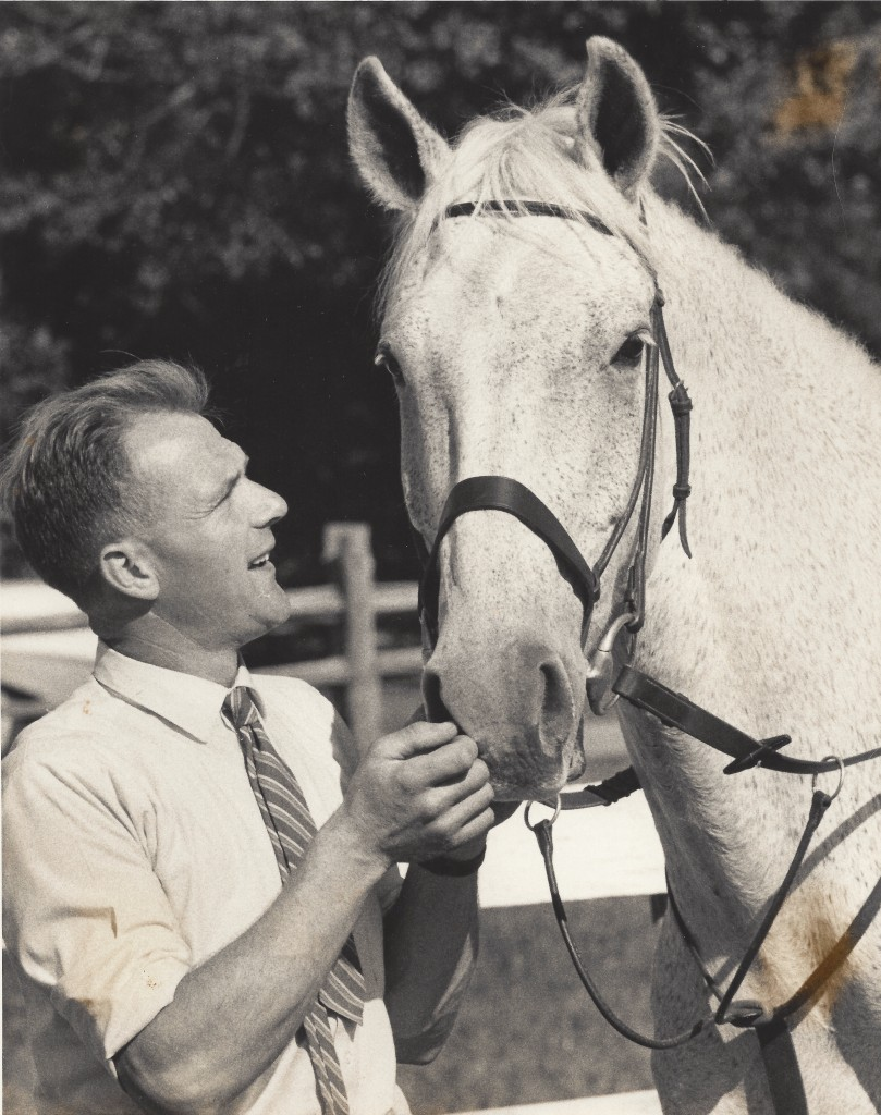 An unbeatable pair: Harry de Leyer and Snowman. Photo by George Silk