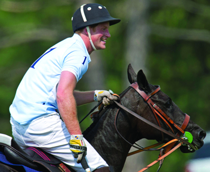 Prince Harry (pictured) finished up his U.S. tour in Greenwich, Connecticut, where he played a charity polo game held at the Greenwich Polo Club, in front of 400 guests. During the match many of the players including Nacho Figures (Polo Ralph Lauren model), Dawn Jones (cinematographer and wife of actor Tommy Lee Jones), and Marc Ganzi (Audi Team captain) were spotted using the PoloGear™ Nic Roldan Elite Free Shoulder Saddle™. Developed by polo star, Nic Roldan, in conjunction with Verhan Saddlery and PoloGear™, this saddle operates on a completely new and innovative concept. The saddle removes the rider's weight from the horse's shoulders while simultaneously keeping the rider in the desired optimum forward position. All of the riders, including the Prince, were smiling – thanks to a great game!  Photo by Don Emmert/AFP/Getty Image