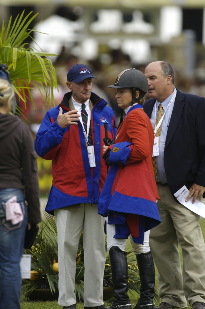 George, with Beezie and John Madden, at the 2006 World Equestrian Games. Photo by PhelpsSports.com