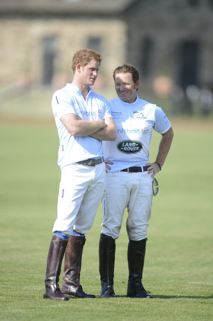Prince Harry and Marc Ganzi talk polo.  Photo by John Robben