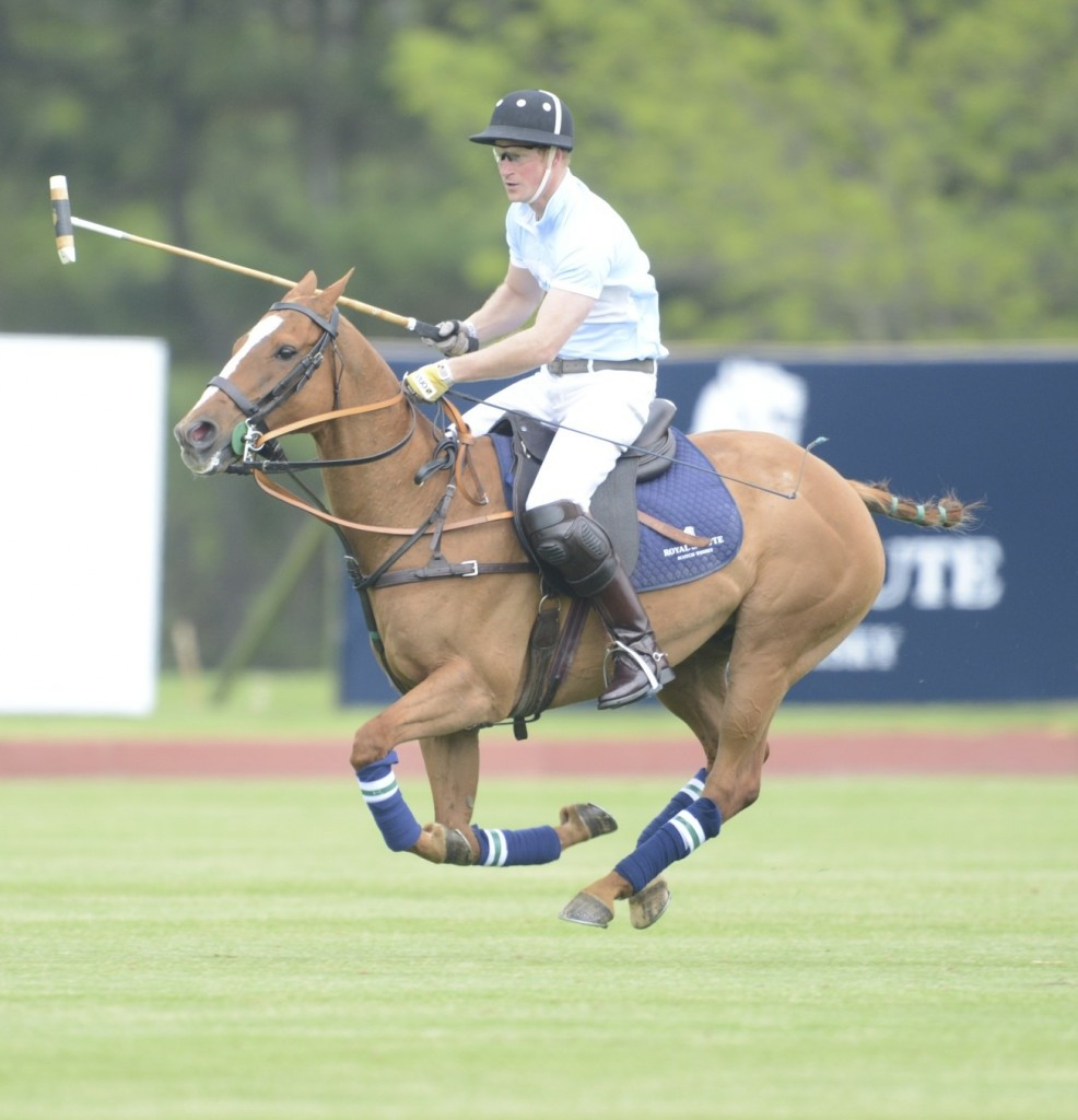 Prince Harry shows off his royal polo skills. Photo by John Robben