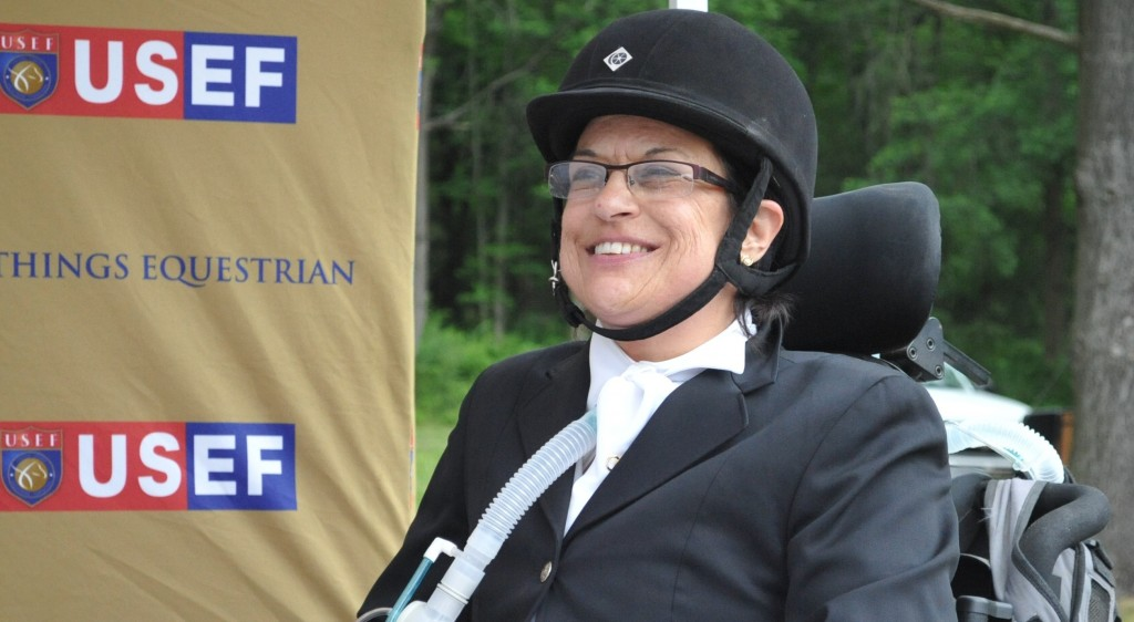 Through determination and hard work, Donna has learned to ride without her ventilator.