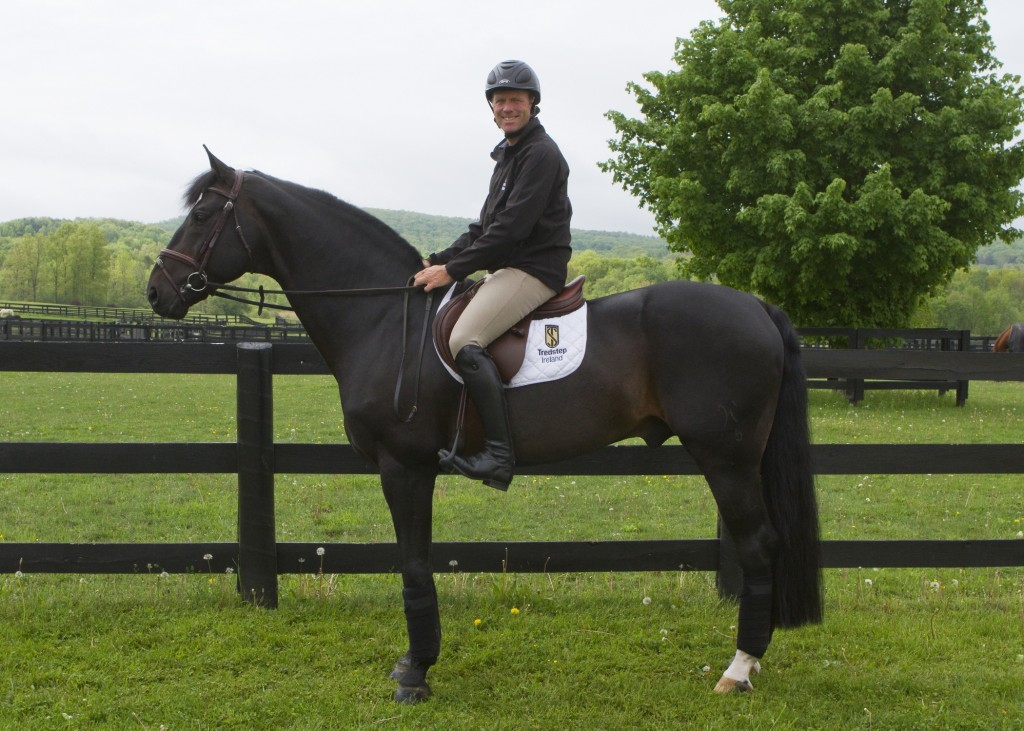 Peter is happy to be back in the U.S.A. and enjoys riding at Winley Farm in New York.