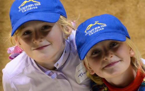 Young competitors in the 2012 Jump for the Children Horse Show.