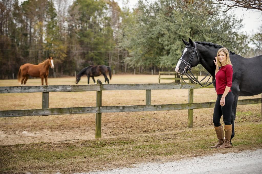Mary-Haskins and her stallion Richmond.  Photos by Brad Styron, www.BradStyron.com