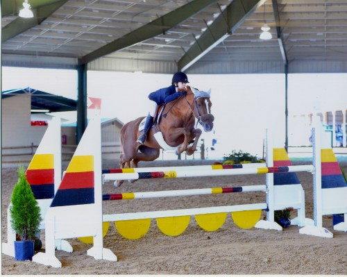 Julia and Rita show off their winning jumping style. Photo by Shawn McMillen