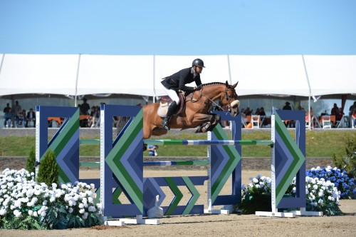 Nayel and Lordan jumping their way to their first million dollar win – the 2013 Zoetis $1 Million Grand Prix at HITS Saugerties. Photo by ESI Photography