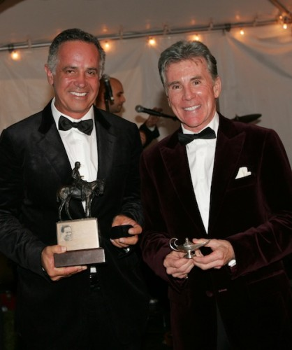 Carlos, with John Walsh, was inducted into the Museum of Polo and Hall of Fame in 2012.  Photo by Alex Pacheco