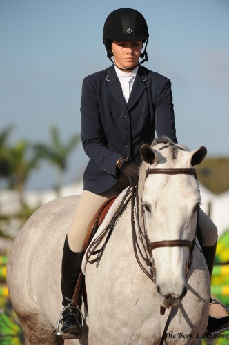 Sophie Simpson and North Run's Eclipse, amazing at only 6, had a very successful indoor circuit finishing eighth in the ASPCA Maclay finals. Photo by The Book LLC 2014