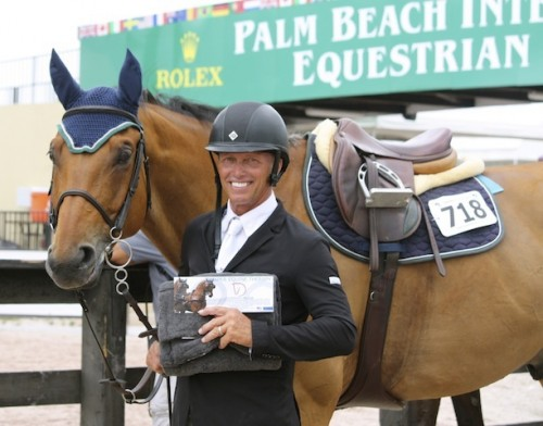 Todd takes home an award from Draper Equine Therapy during the 2014 FTI Winter Equestrian Festival.
