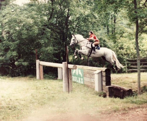 Kim and The Gray Goose at the Luhmuhlen World Championships in 1982. They won individual and team bronze medals. Gray was the only horse from the United States to bring home an individual medal. Photo by Mary Phelps