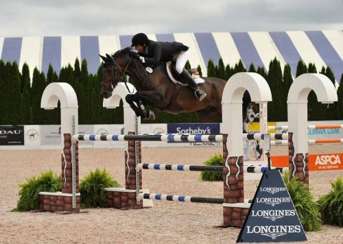 Philip and Firefly bringing home the ribbons at the Hampton Classic.  Photo by Shawn McMillan