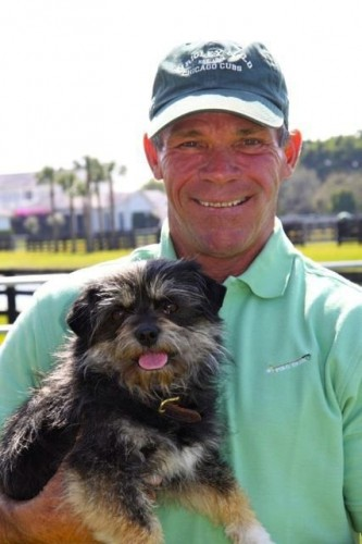 Bruce with his beloved Chumley, adopted from Danny and Ron's Rescue.
