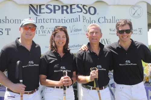 The What2WearWhere team at the Mashomack International Polo Challenge.