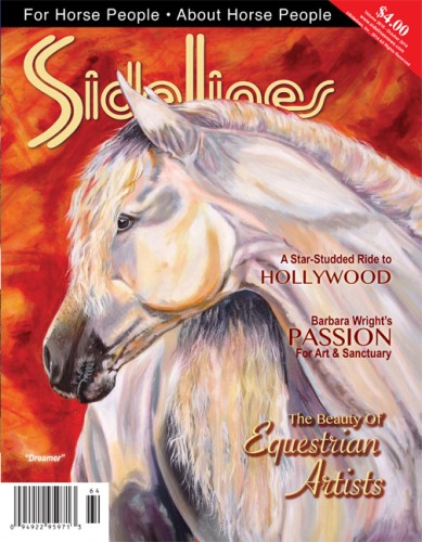 "On the Cover: ""Dreamer"" — painting of a beloved Andaslusian broodmare by Colorado artist Barbara Wright.                                                     Photo courtesy of Barbara Wright"