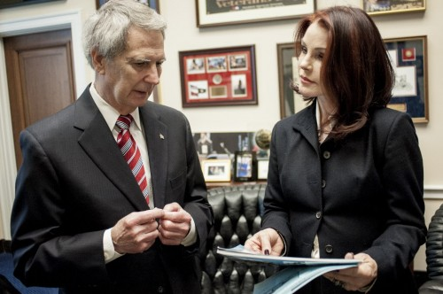Priscilla meeting with Rep. Walter Jones (R-NC) on Capitol Hill as she lobbys lawmakers for the horse protections bill PAST Act, aka Prevent All Soring Tactics Act.